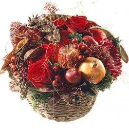 Natürlicher-Winterkorb - Blumen Bergmann